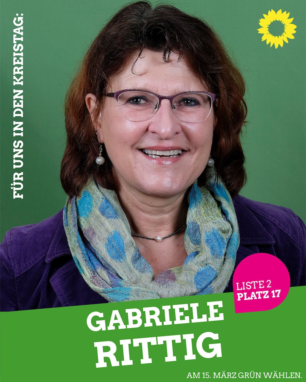 Für uns in den Kreistag: Gabriele Rittig