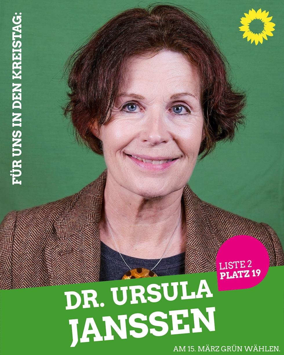 Für uns in den Kreistag: Dr. Ursula Janssen