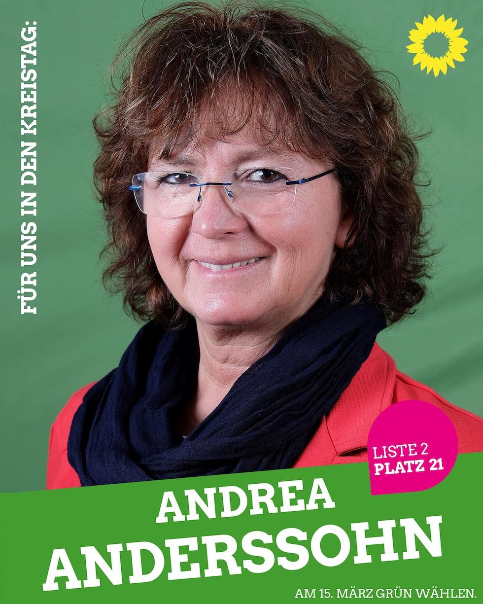 Für uns in den Kreistag: Andrea Anderssohn