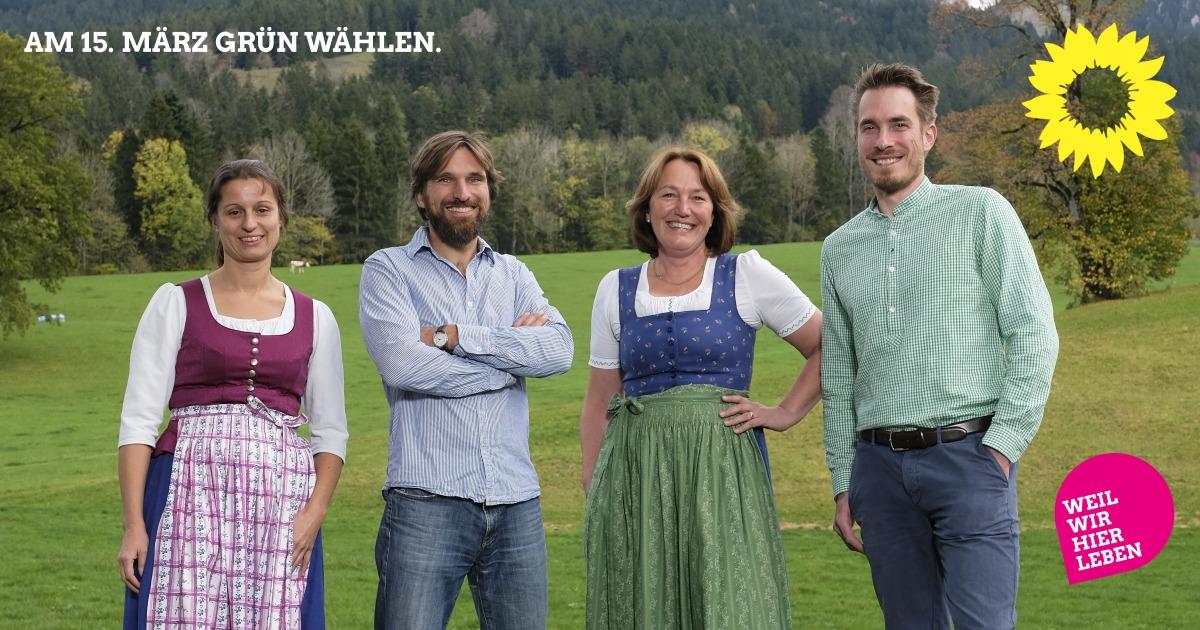 Die Grünen Kandidat*innen für Fischbachau