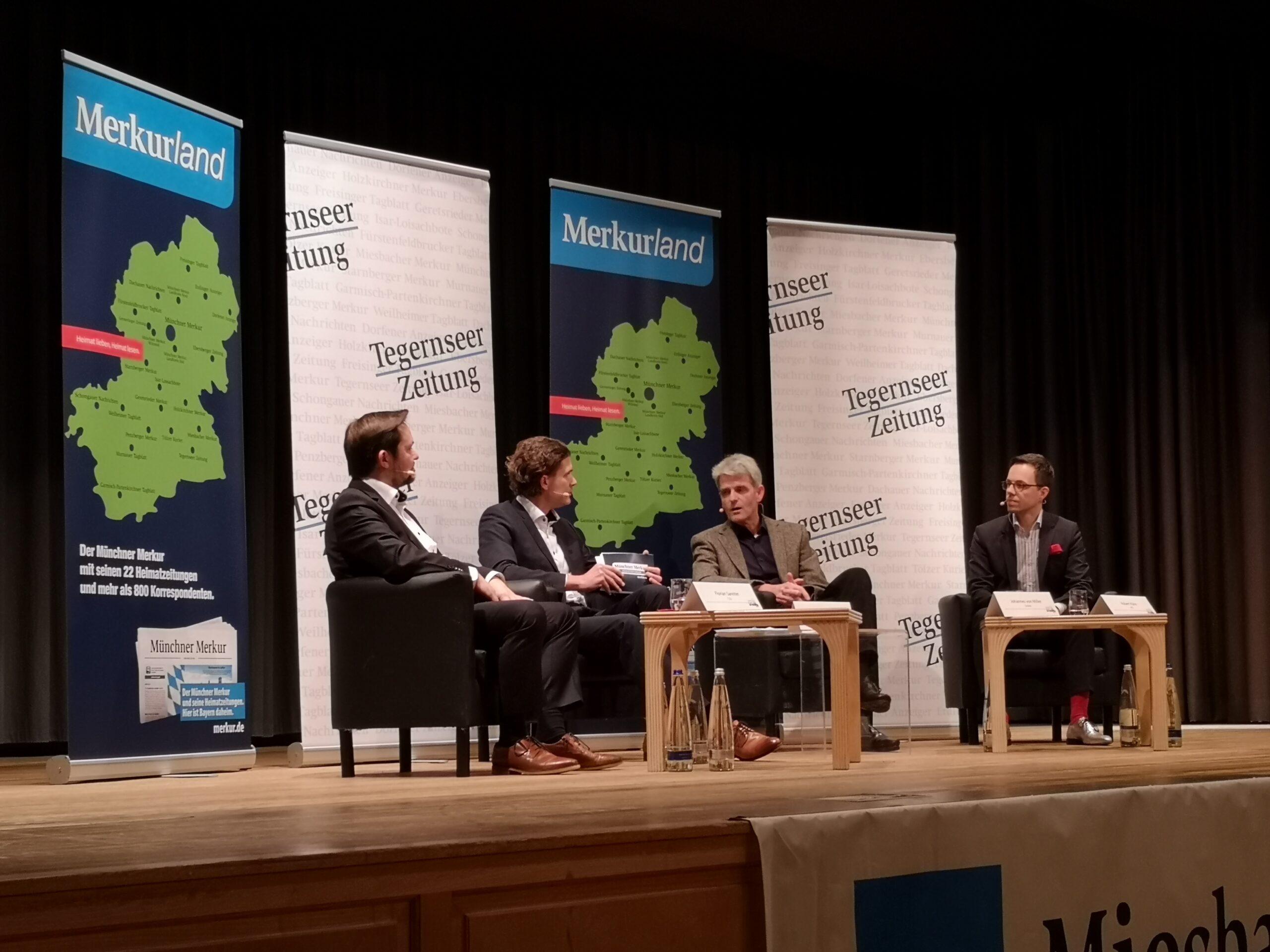 Podiumsdiskussion der Bürgermeisterkandidaten in Bad Wiessee