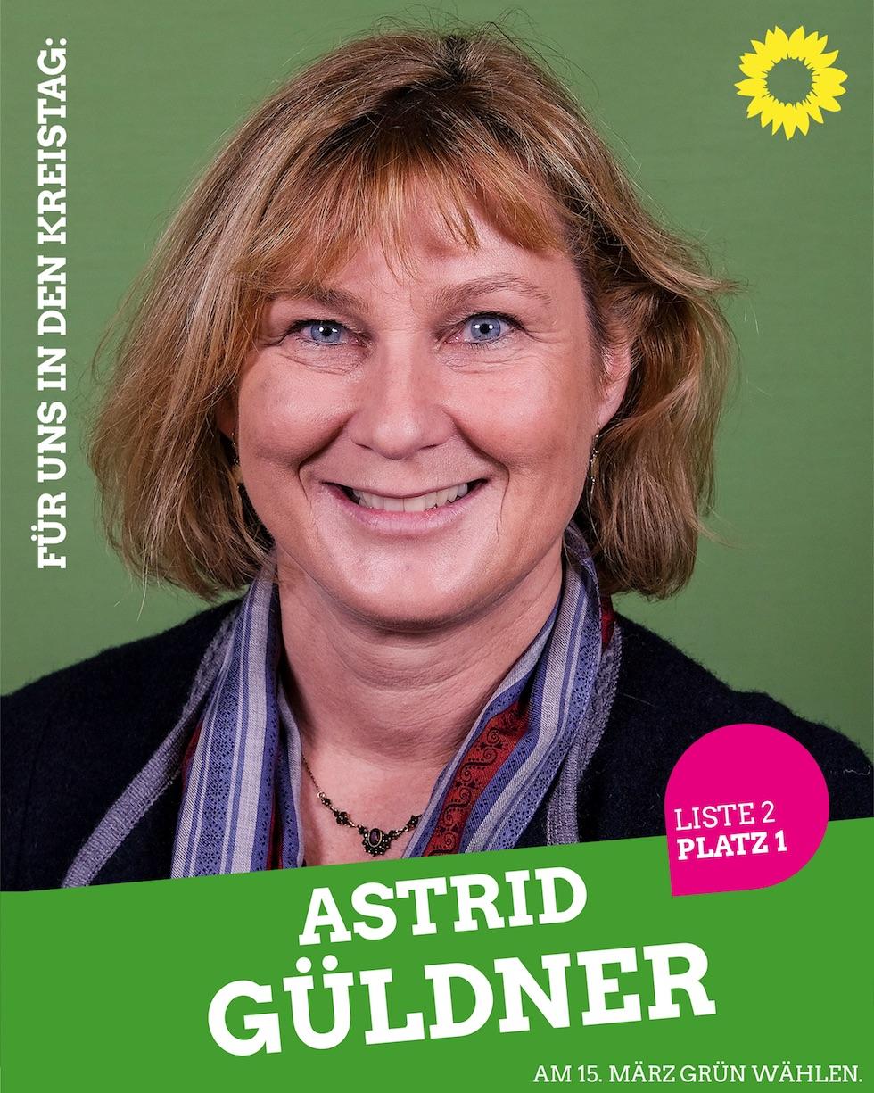 Für uns in den Kreistag: Astrid Güldner