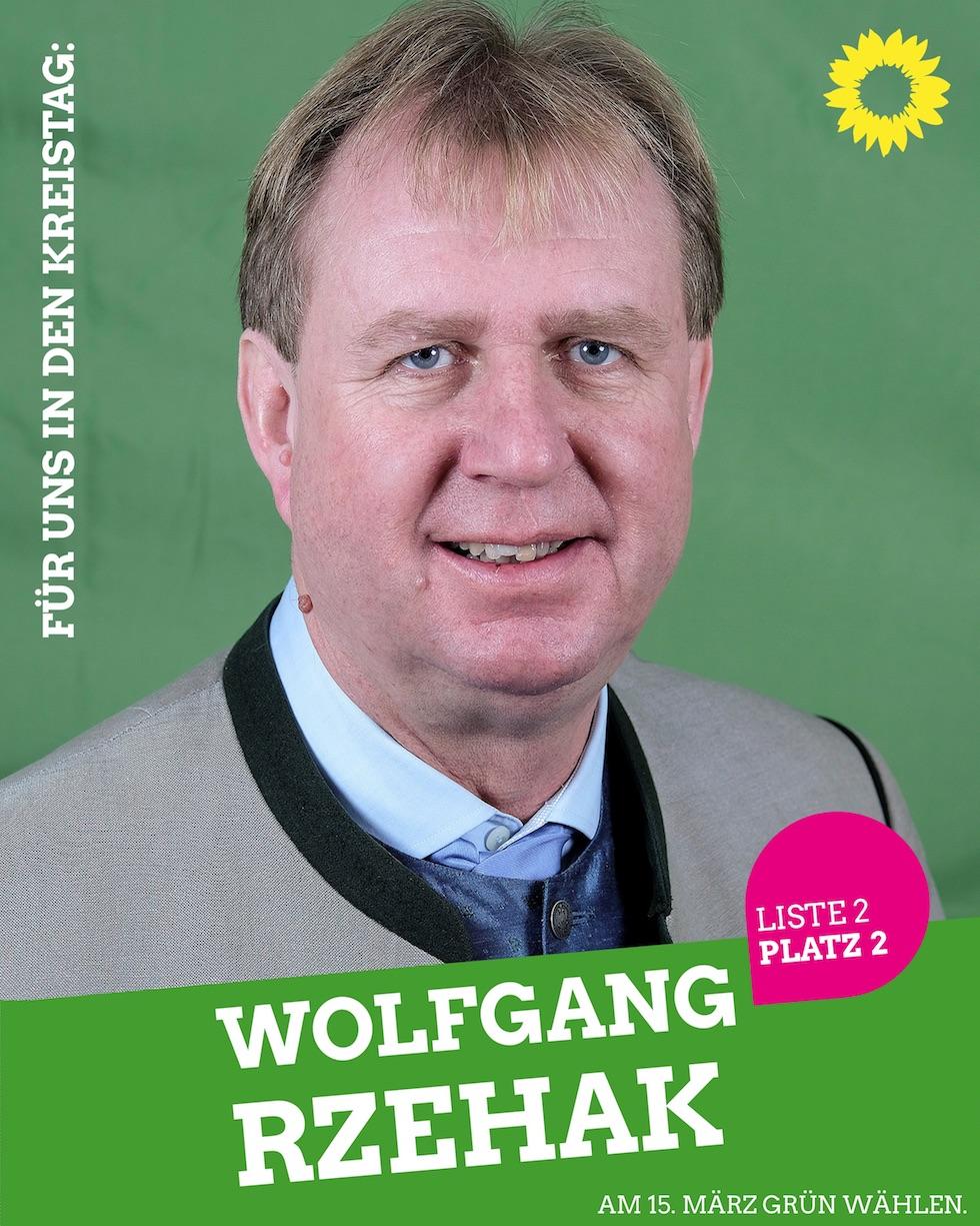 Für uns in den Kreistag: Wolfgang Rzehak