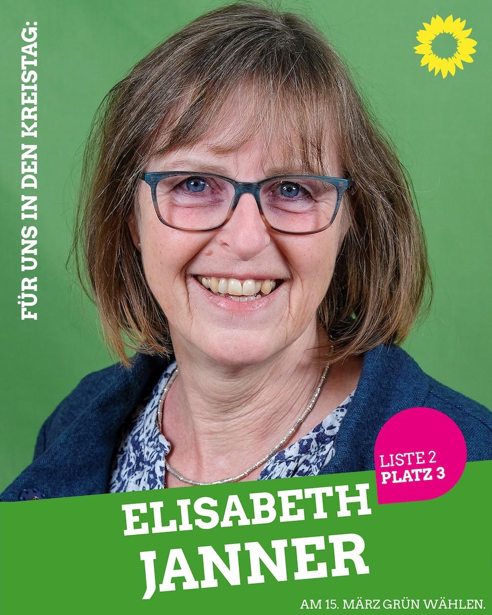 Für uns in den Kreistag: Elisabeth Janner