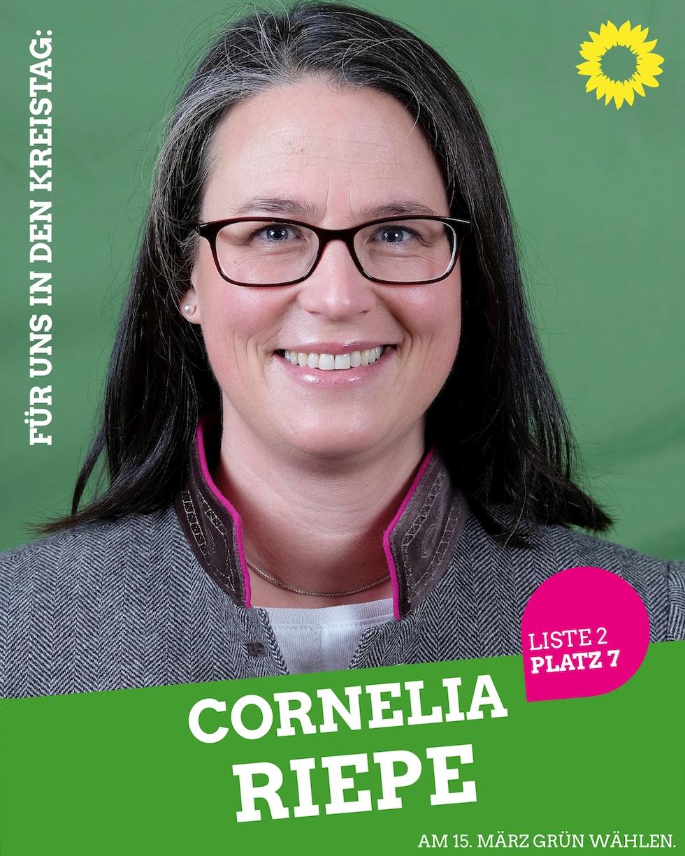 Für uns in den Kreistag: Cornelia Riepe