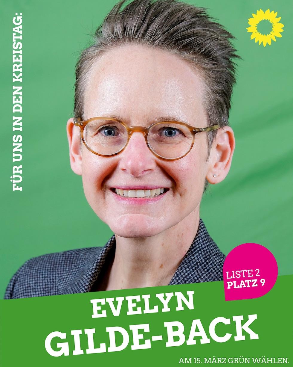 Für uns in den Kreistag: Evelyn Gilde-Back
