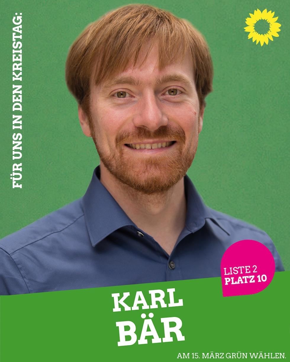 Für uns in den Kreistag: Karl Bär