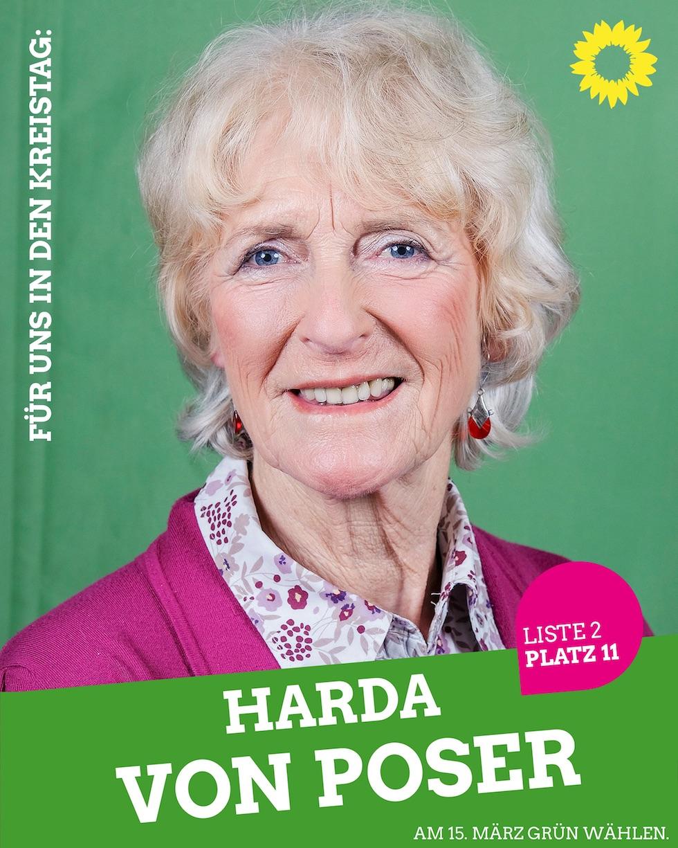 Für uns in den Kreistag: Harda von Poser