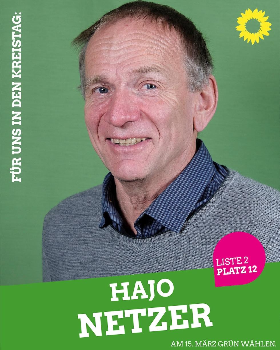 Für uns in den Kreistag: Hajo Netzer