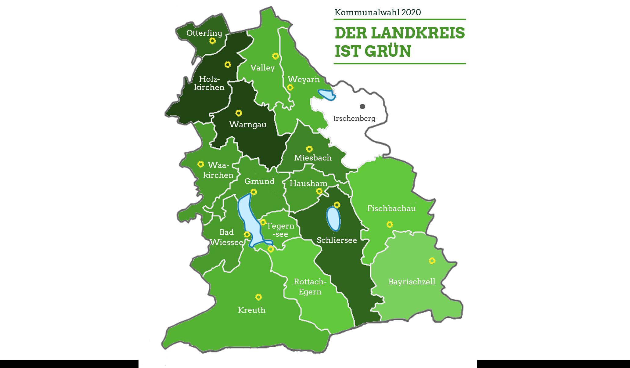 Der Landkreis ist grün
