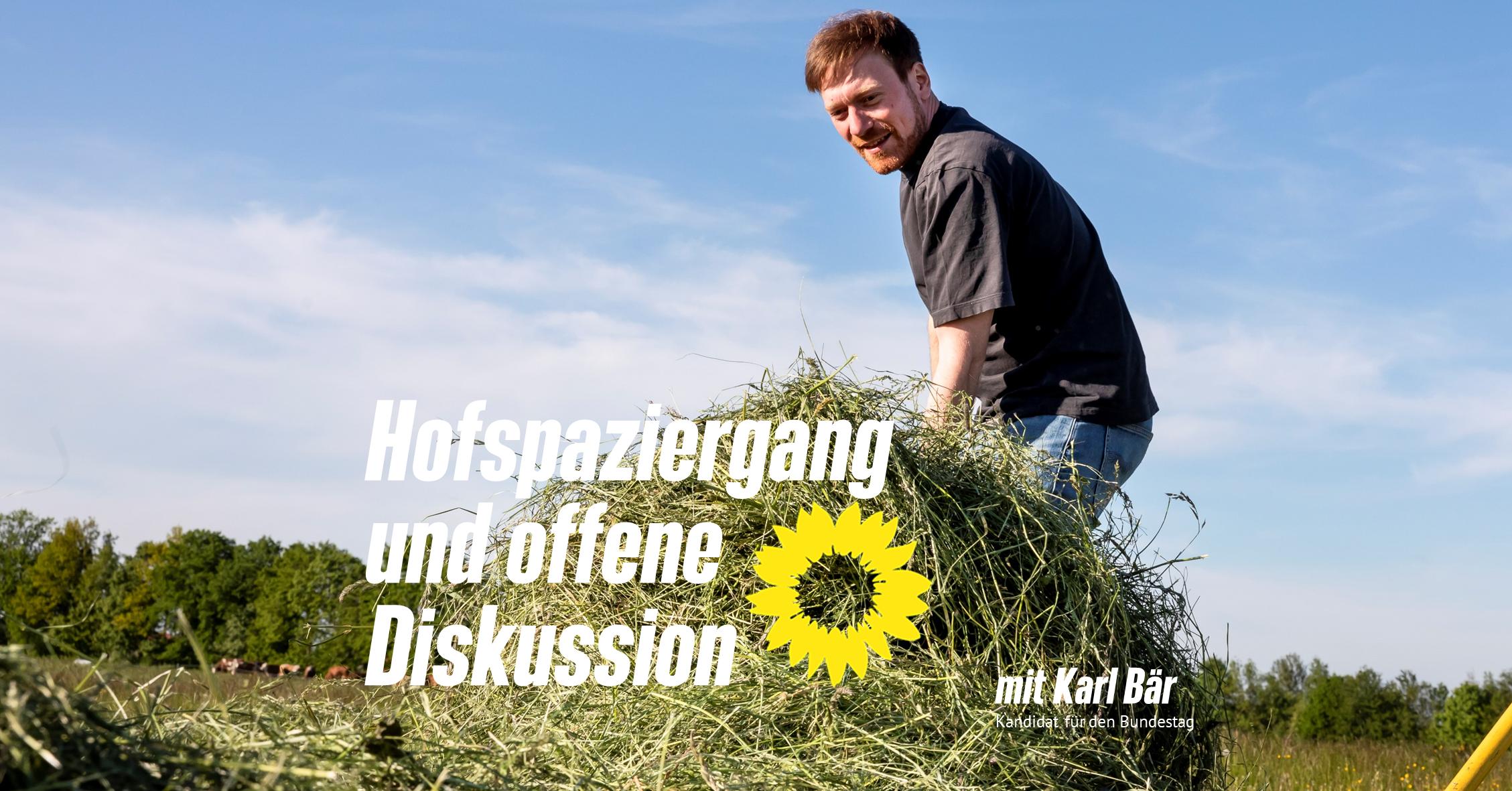 Hofspaziergang mit Bundestagskandidat Karl Bär