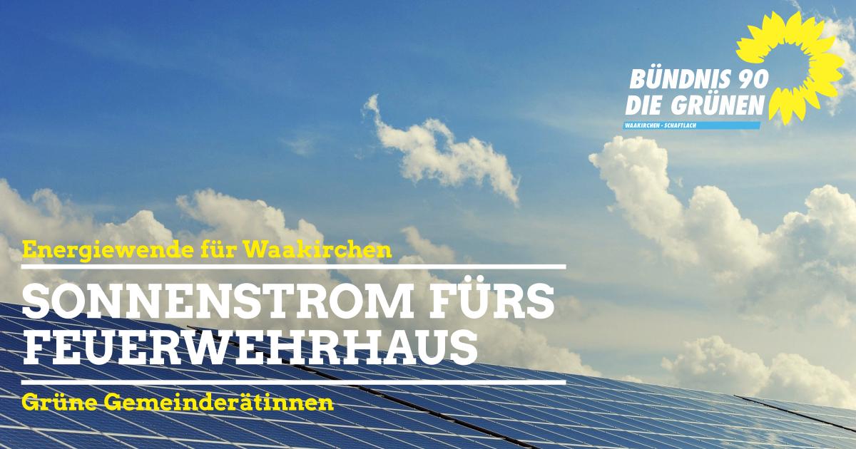 Waakirchen - Photovoltaik fürs Feuerwehrhaus
